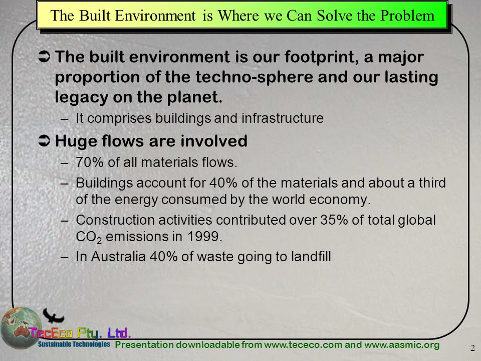 The Built Environment is Where we Can Solve the Problem
