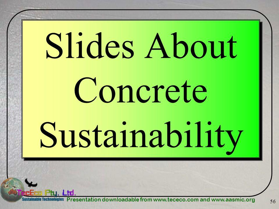Slides About Concrete Sustainability