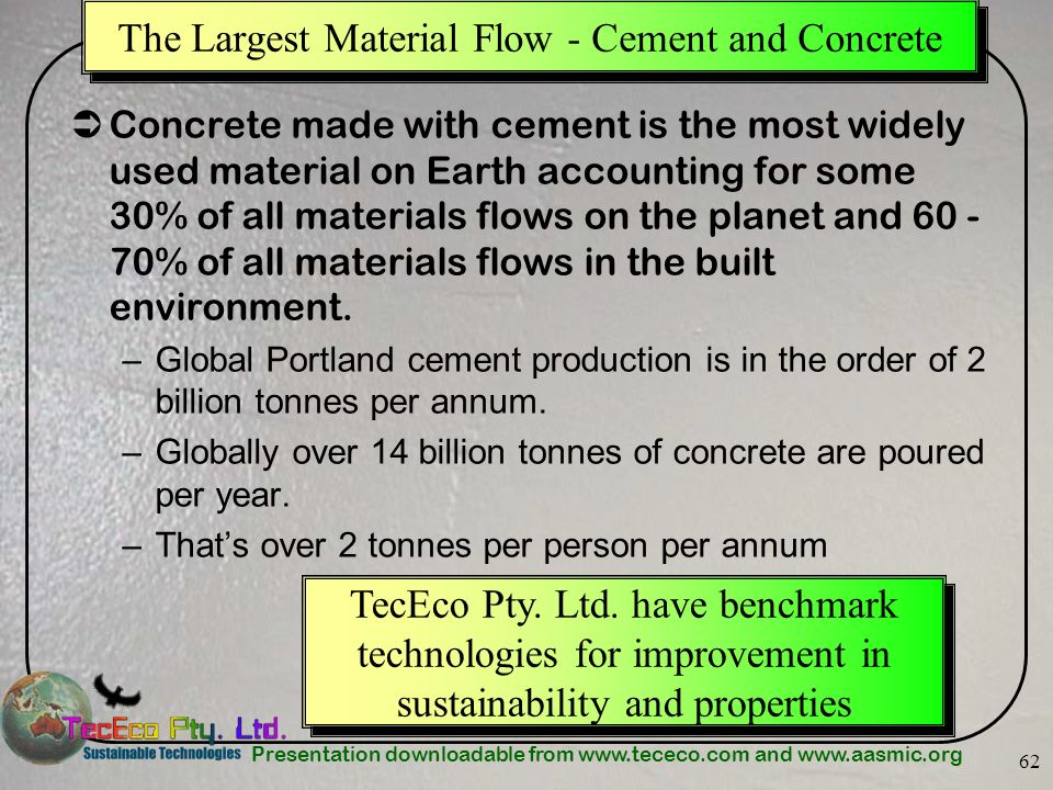 The Largest Material Flow - Cement and Concrete