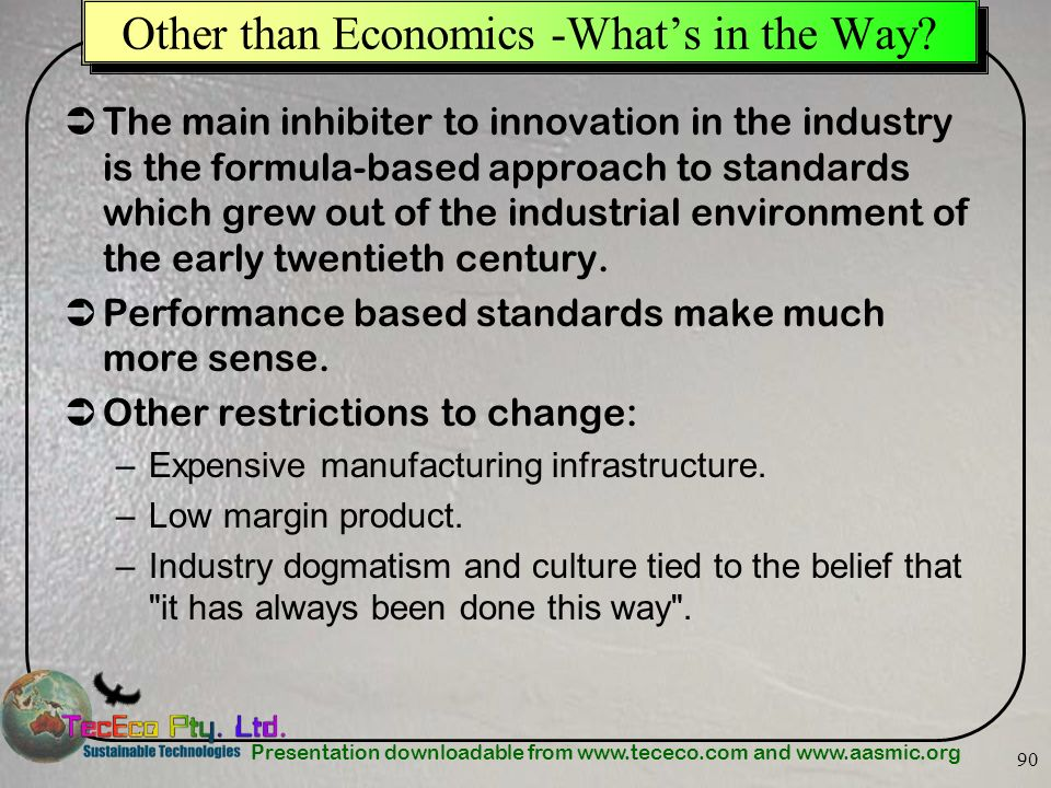 Other than Economics -What's in the Way