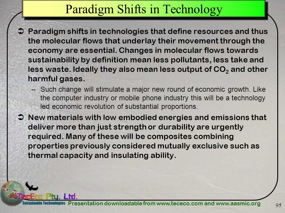 Paradigm Shifts in Technology