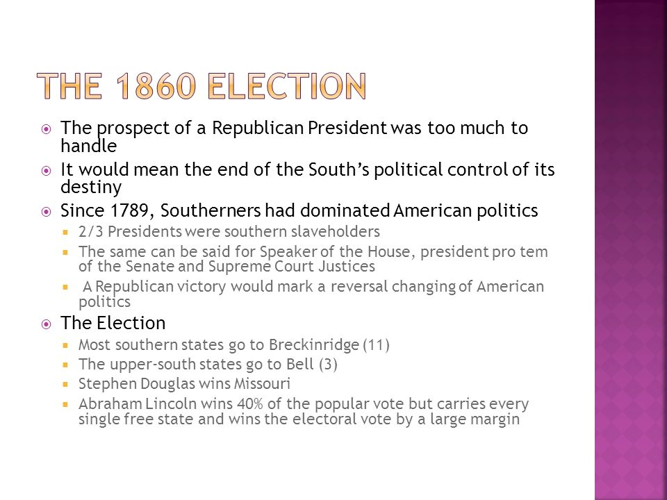 UNIT 4 NOTES: Secession AND THE BEGINNING OF THE CIVIL WAR ...
