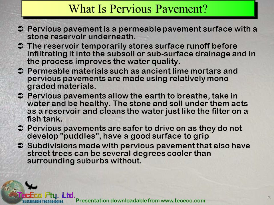 What Is Pervious Pavement