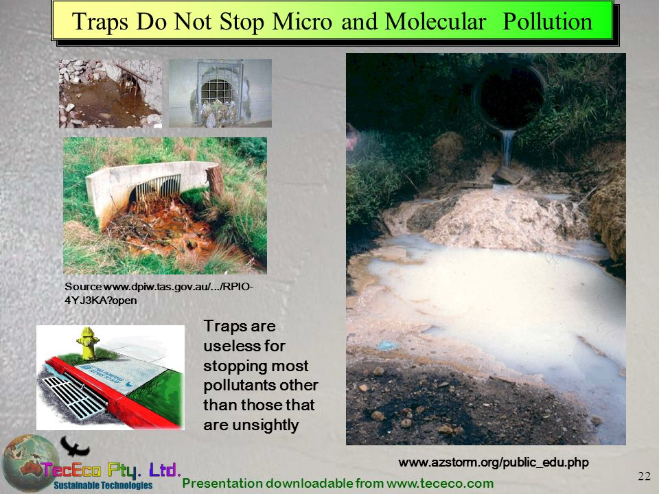 Traps Do Not Stop Micro and Molecular Pollution