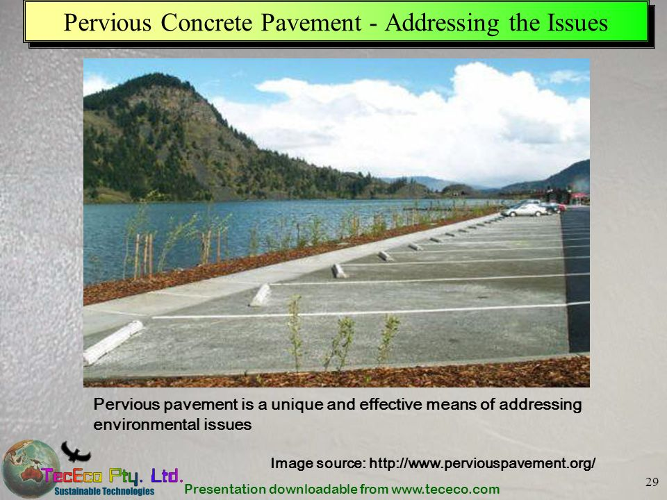 Pervious Concrete Pavement - Addressing the Issues