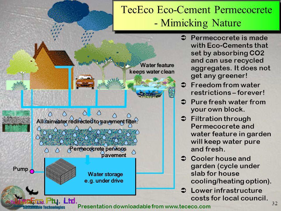 TecEco Eco-Cement Permecocrete - Mimicking Nature