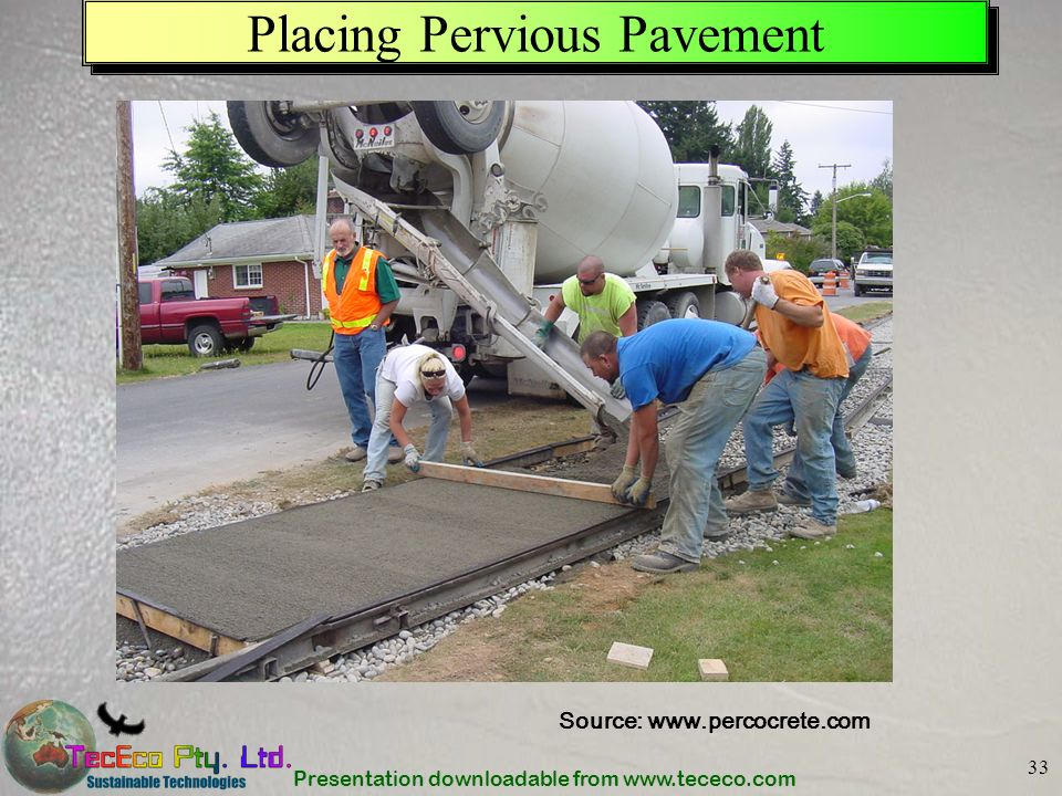 Placing Pervious Pavement
