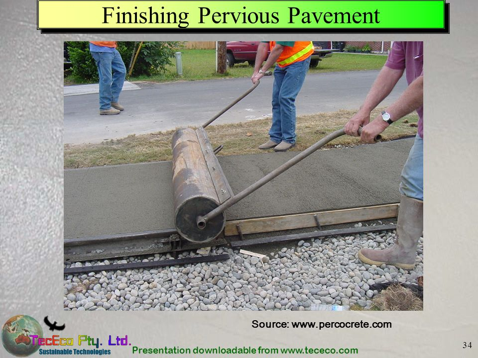 Finishing Pervious Pavement