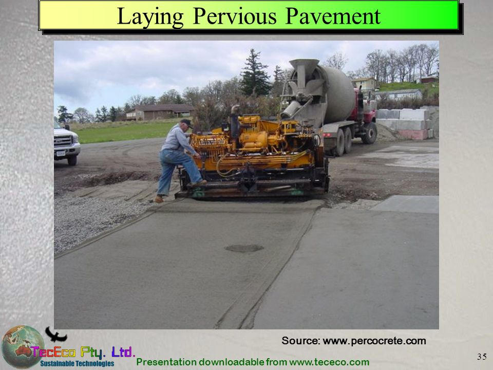 Laying Pervious Pavement