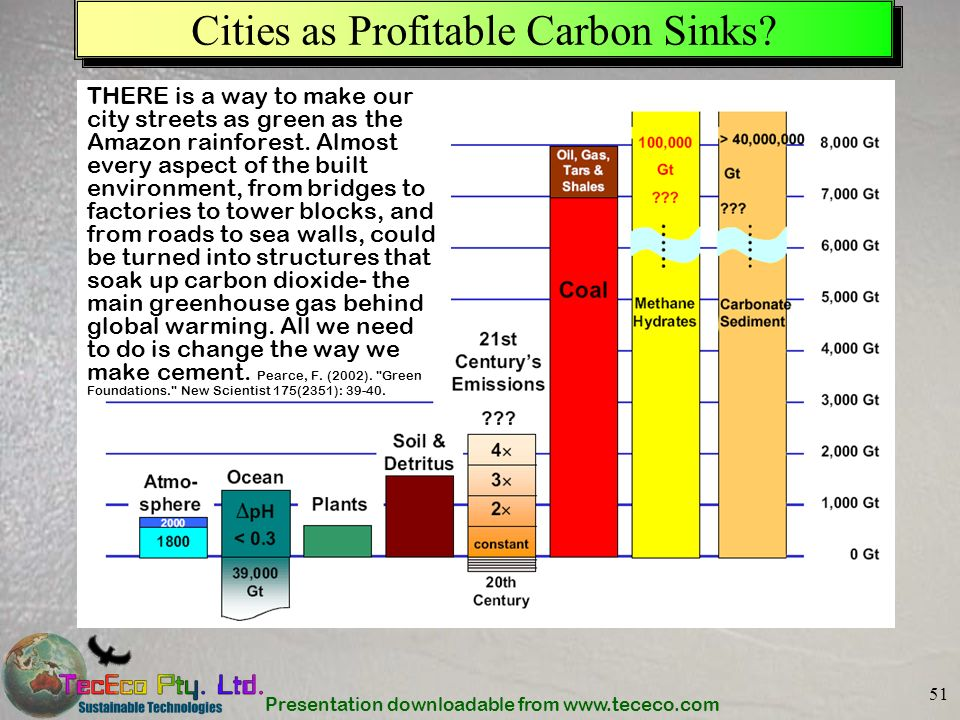 Cities as Profitable Carbon Sinks