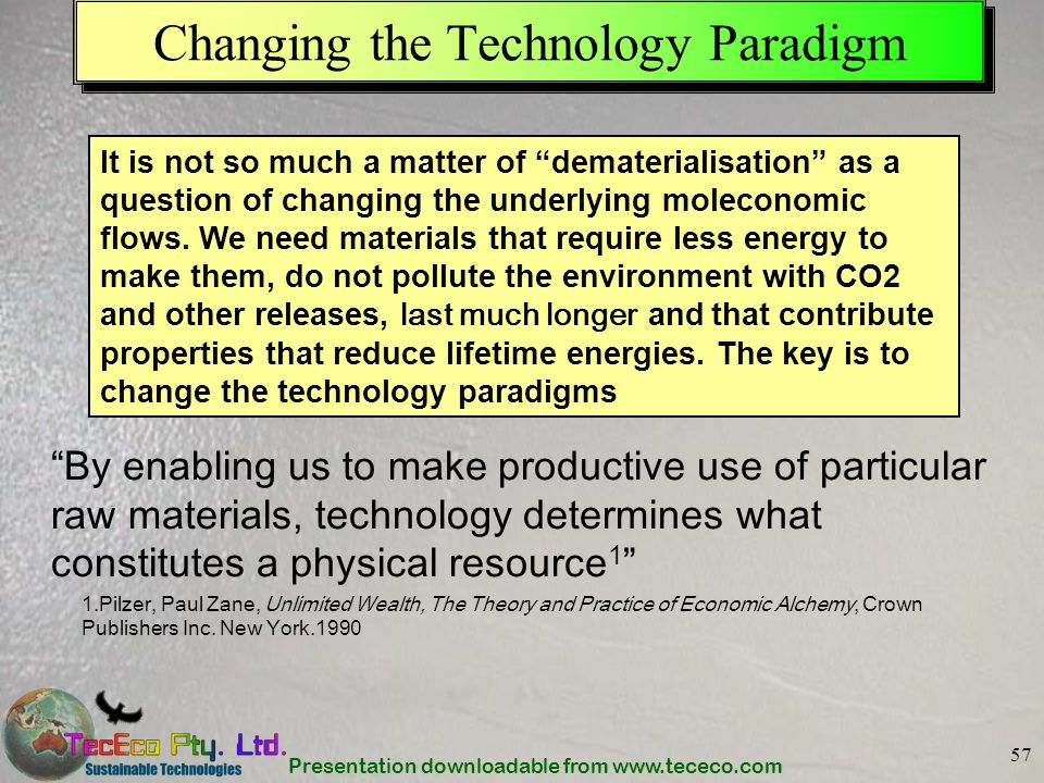 Changing the Technology Paradigm