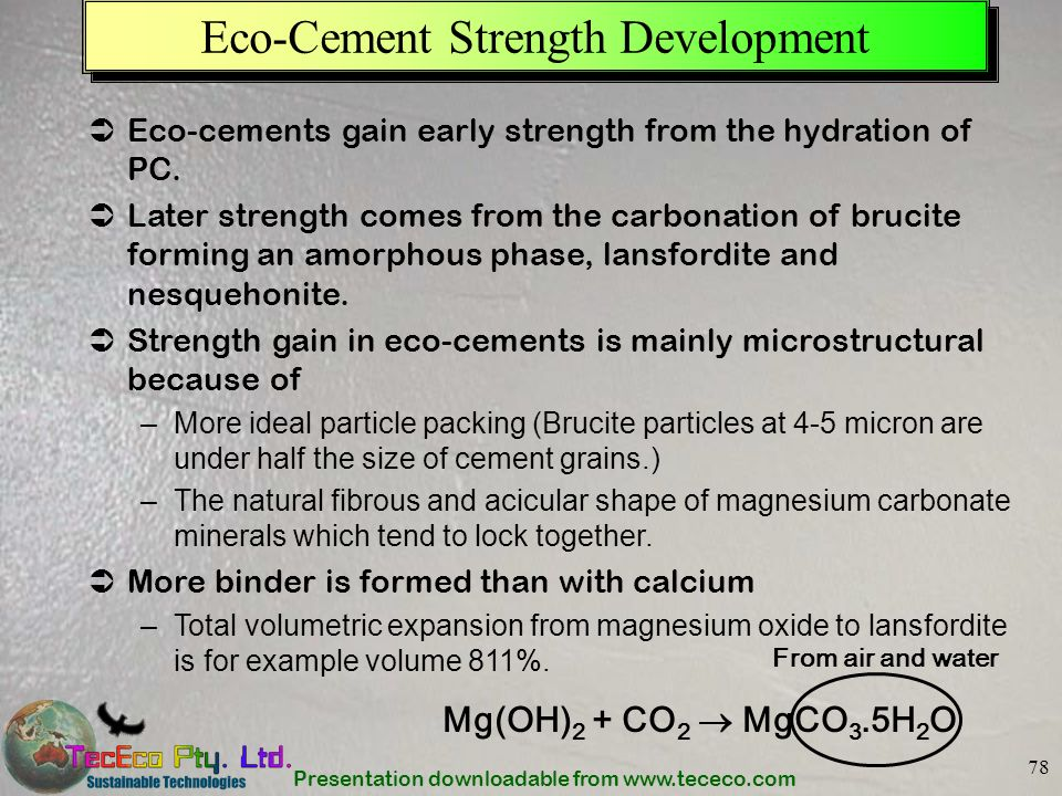 Eco-Cement Strength Development
