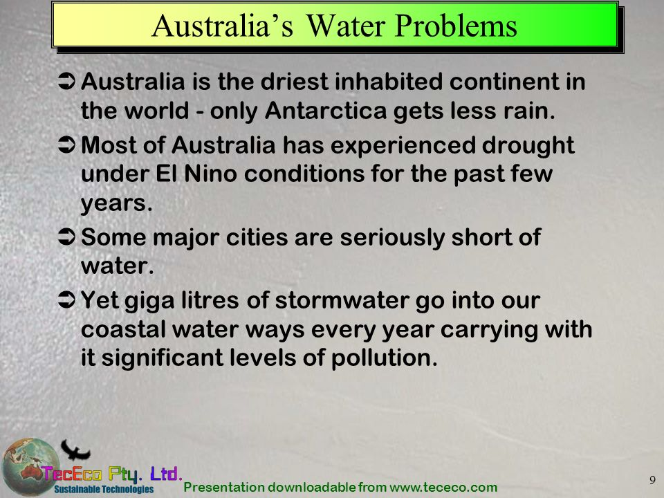 Australia's Water Problems