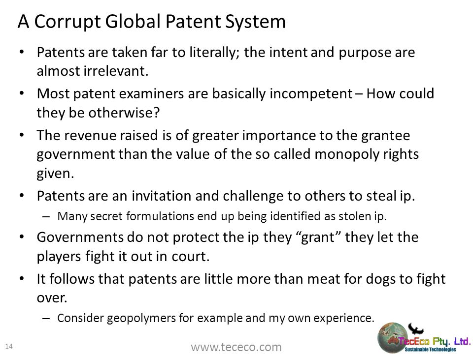 A Corrupt Global Patent System