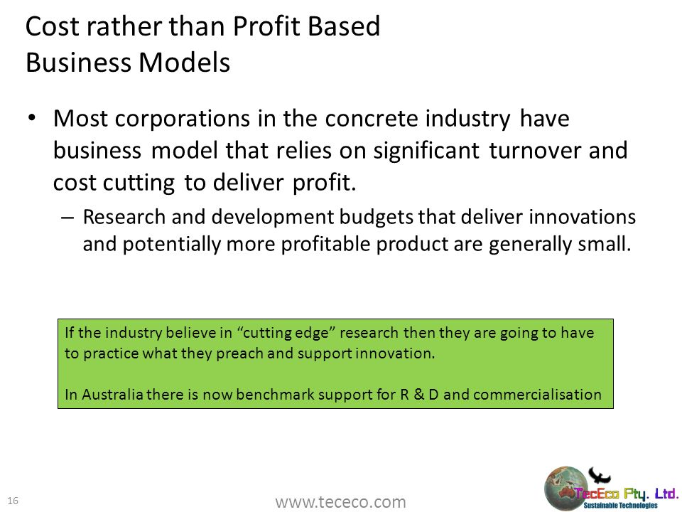 Cost rather than Profit Based Business Models