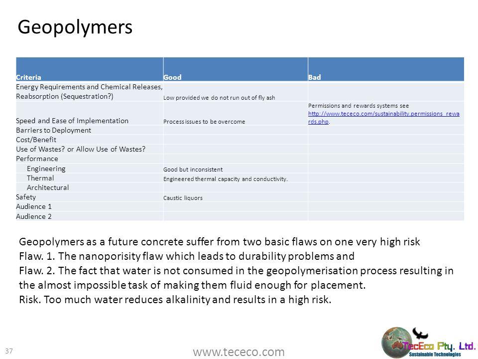Geopolymers www.tececo.com