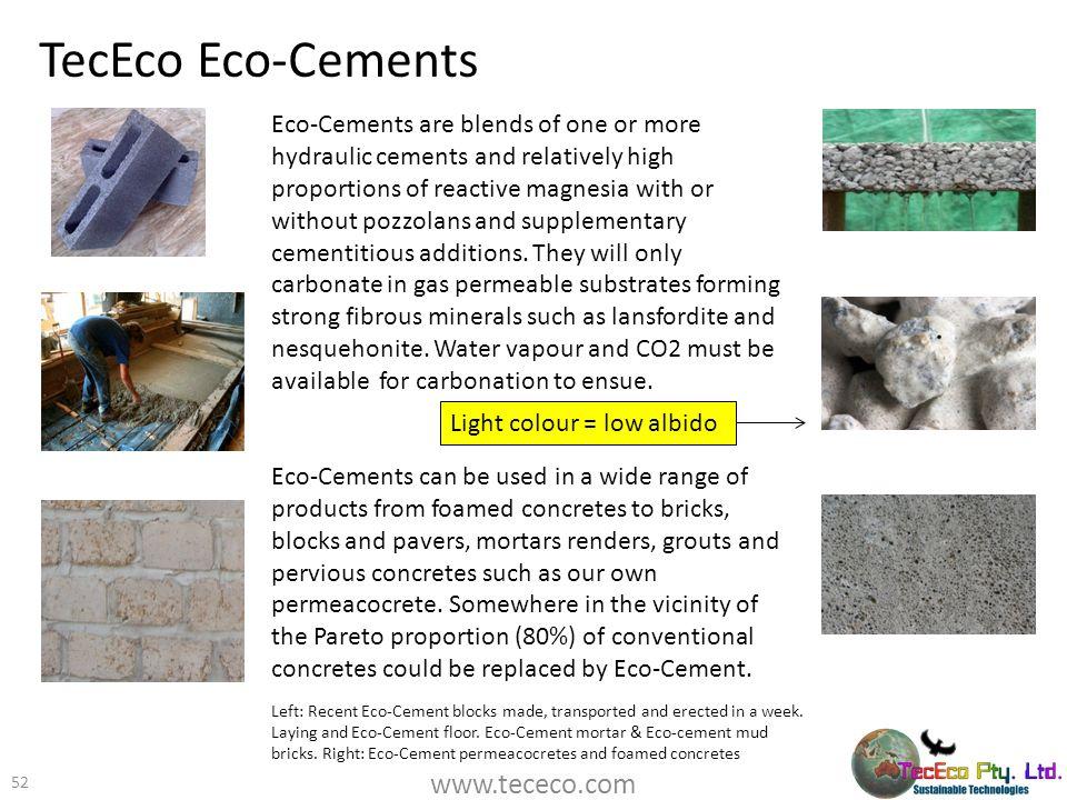 TecEco Eco-Cements www.tececo.com
