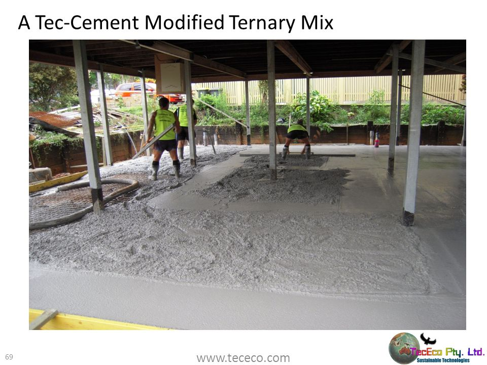 A Tec-Cement Modified Ternary Mix