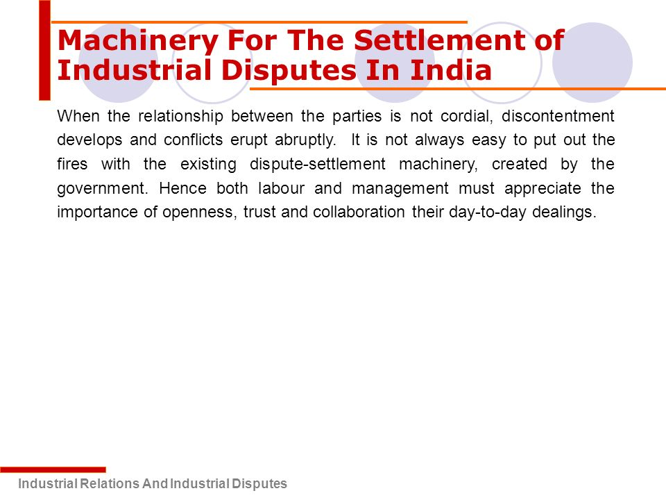 Conclusion of industrial relations in india