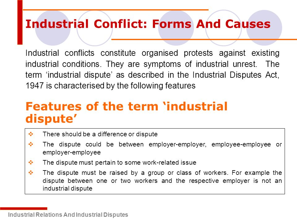 industrial conflict Methods for resolving conflicts and disputes resolving conflicts and disputes what are your options: we are all familiar.