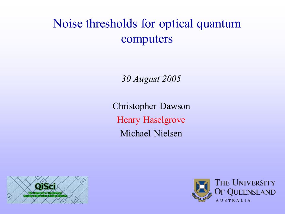 Noise thresholds for optical quantum computers