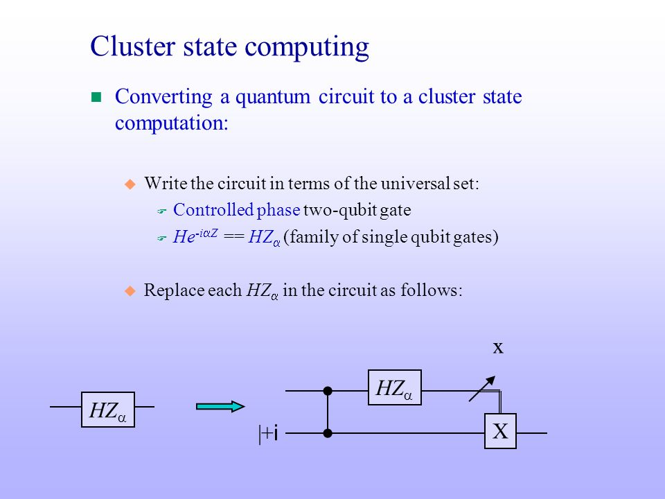 Cluster state computing