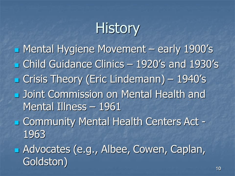 the community mental health act of 1963 essay Start studying community mental health nursing learn vocabulary, terms, and more with flashcards,  (often called the community mental health centers act) in 1963.