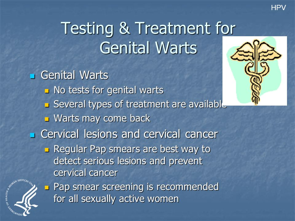 Testing & Treatment for Genital Warts
