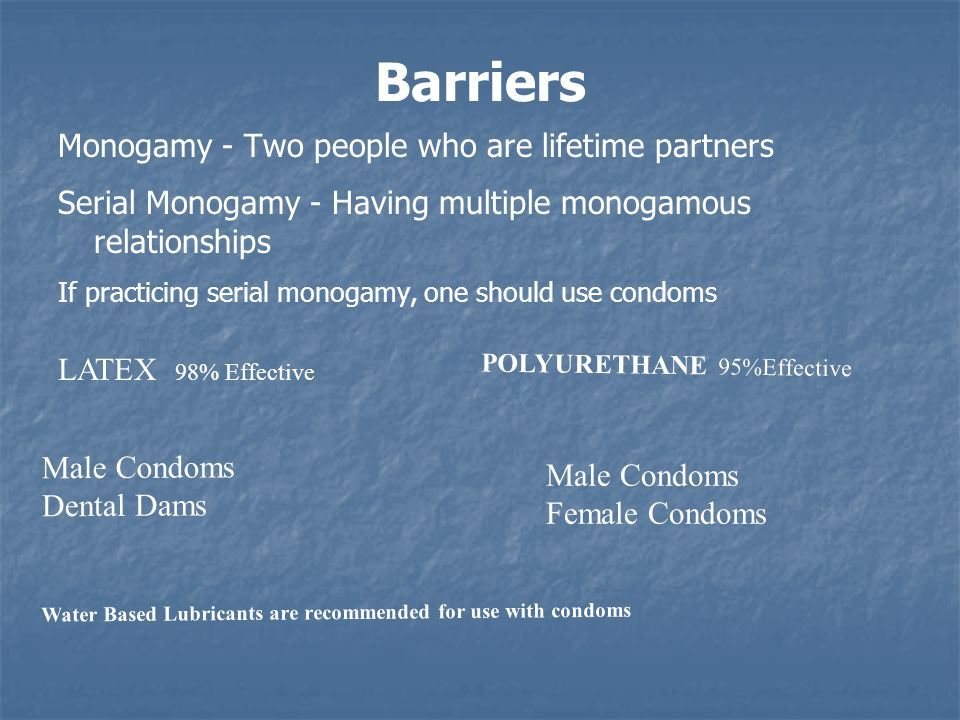 Barriers Monogamy - Two people who are lifetime partners