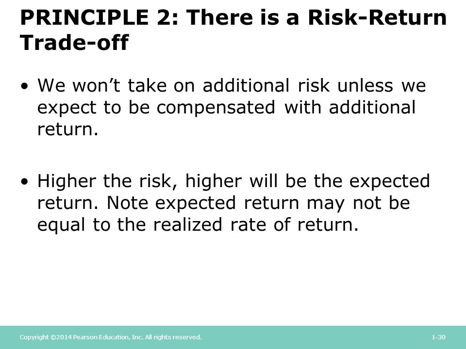 risk return trade off pdf