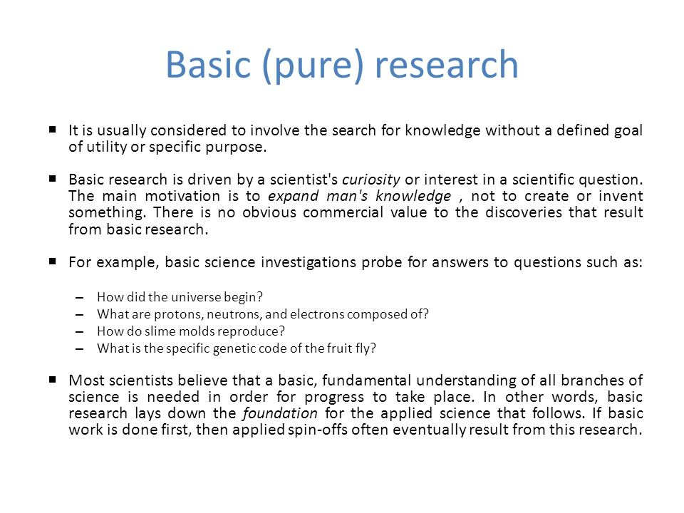 Definition of 'fundamental research'