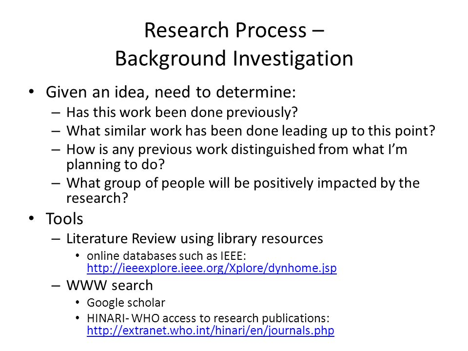 background and methodology of the research Introduction to research methodology  background man coming to grips with his environment and to understand the nature through experience,.