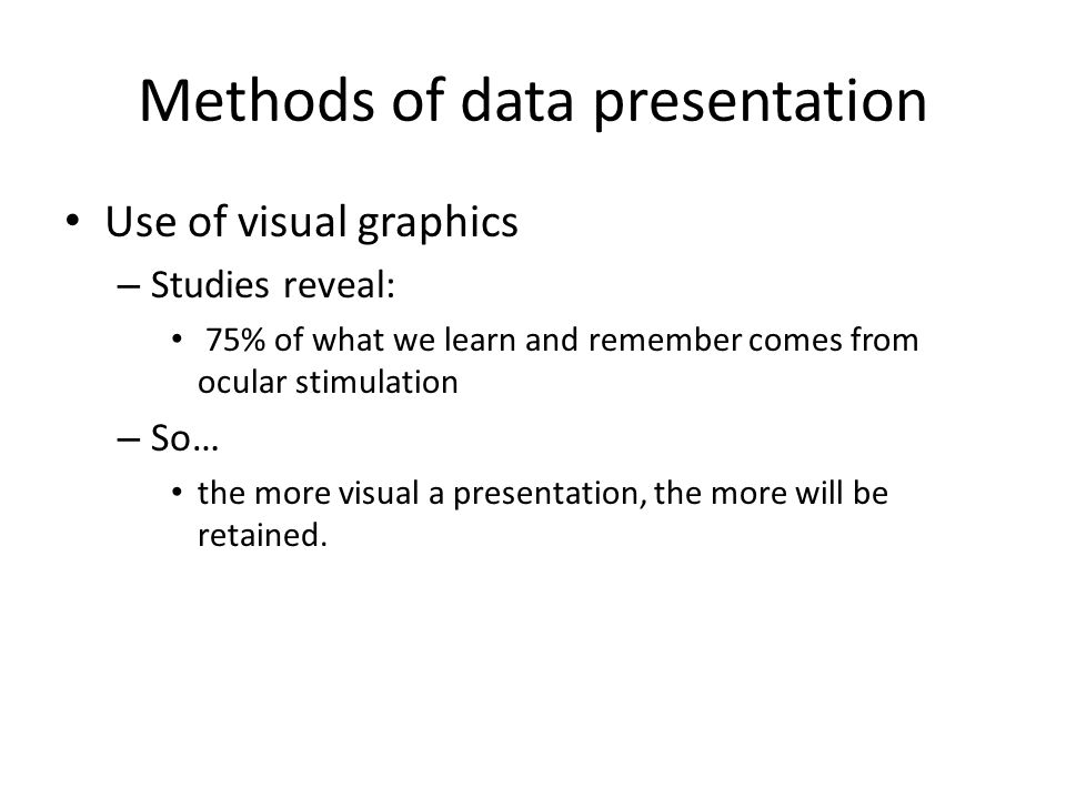 ways of presenting data in research