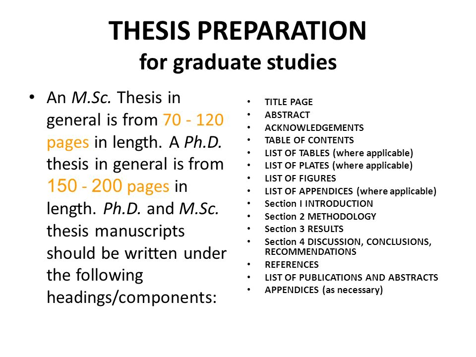 phd thesis headings