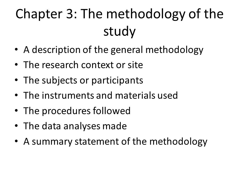 chapter 3 reserach methodology