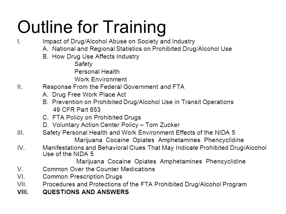 the effects of substance abuse in the workplace Marijuana in the workplace in 2011, about 98 million full-time us workers age 18 and older either abused or were addicted to drugs or alcohol in the previous 12 months, according to the 2012 national survey on drug use and health, conducted by the federal substance abuse and mental health services administration.