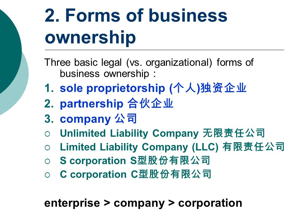 forms of business enterprise Electronic business enterprise resource planning  most legal jurisdictions specify the forms of ownership that a business can take,.