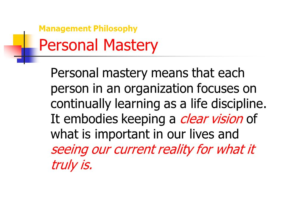 biography and management philosophy This personal life philosophy of pursuing one's own dreams regardless of the  opinions of others played a key role in why jobs was able to.