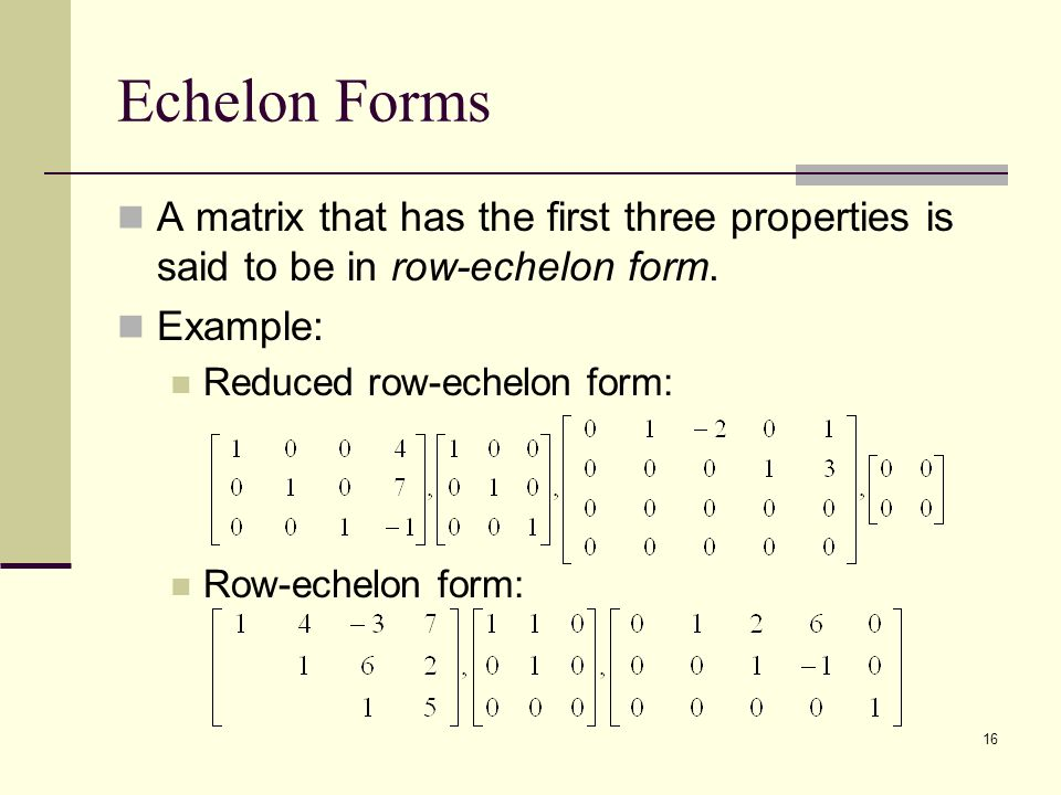 Systems of Linear Equation and Matrices - ppt video online download
