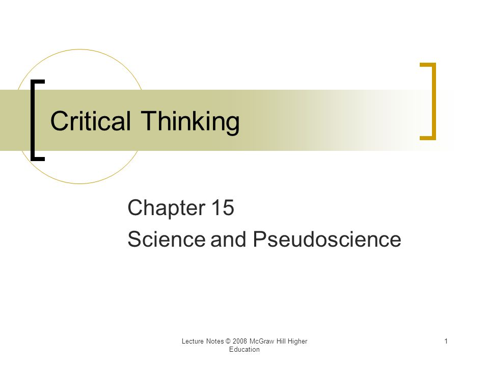 pseudoscience critical thinking and author essay