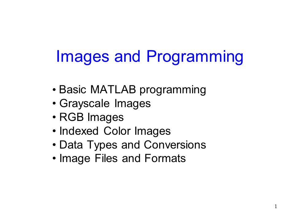 Images and Programming