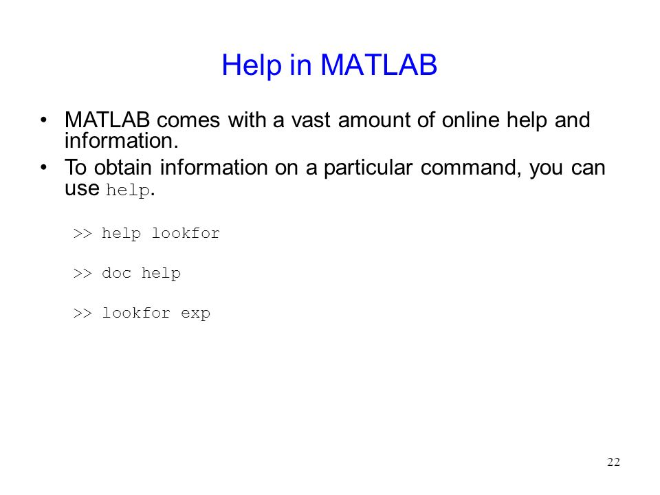 images and programming ppt video online  help in matlab matlab comes a vast amount of online help and information to