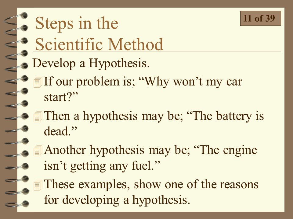 Reasons A Car Won T Start >> Technical Science Scientific Tools and Methods - ppt download