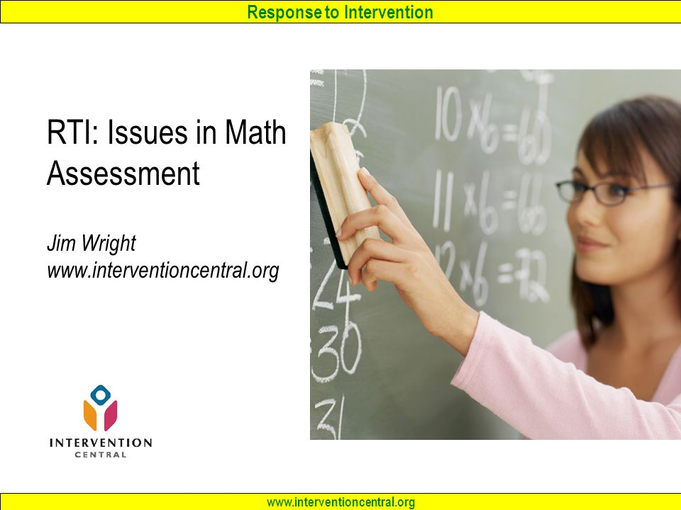 RTI Issues in Math Assessment Jim Wright ppt download – Intervention Central Math Worksheet Generator
