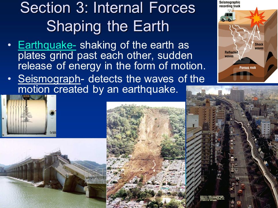 Section 3: Internal Forces Shaping the Earth
