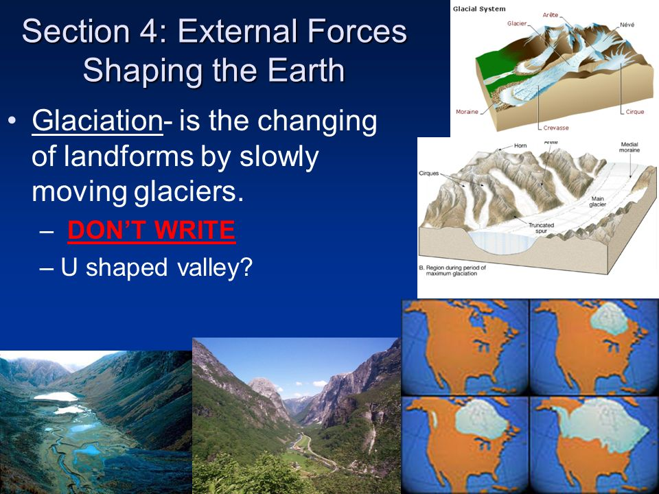 Section 4: External Forces Shaping the Earth