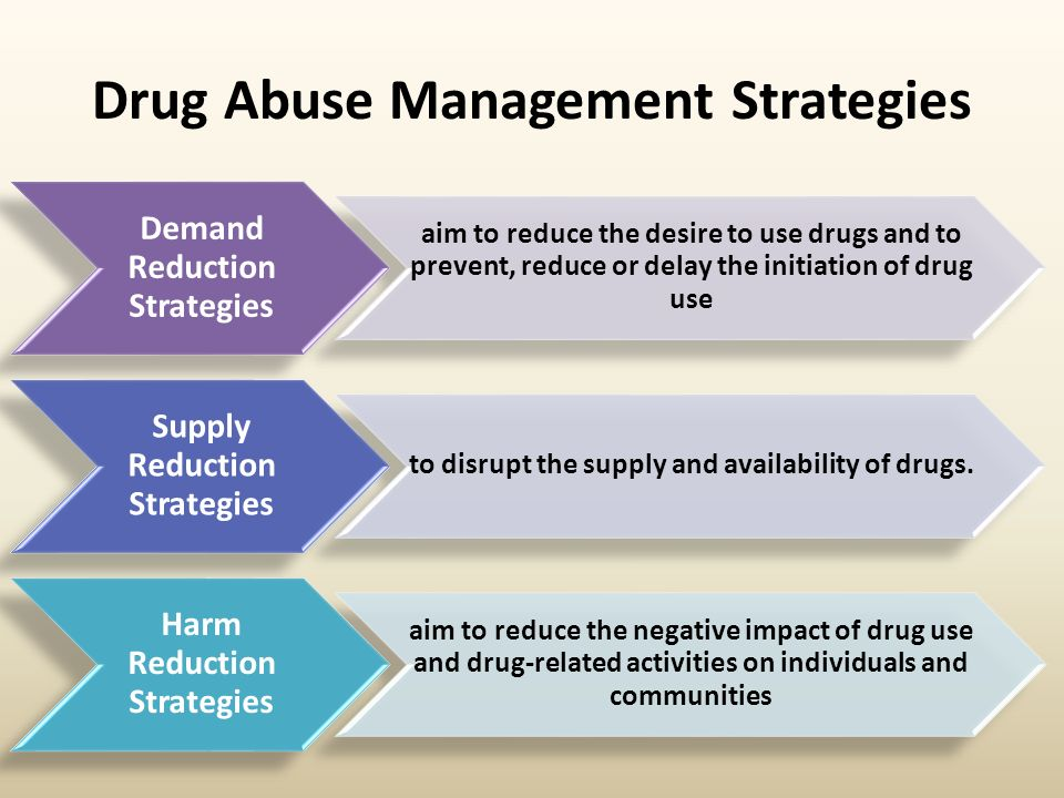to eliminate drug abuse it is crtical to eliminate the desire for drugs To find more about a drug's side effects, look on the label of over-the-counter (otc) products or on package inserts or printed materials that you get with prescription drugs because the inserts.