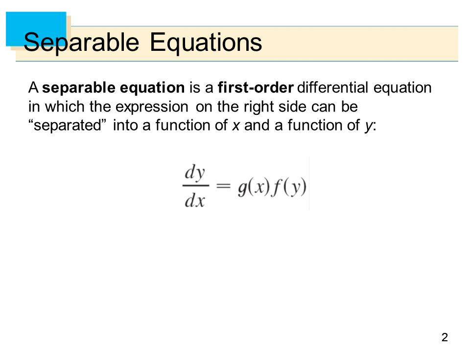 93 Separable Equations ppt video online download – Separable Differential Equations Worksheet