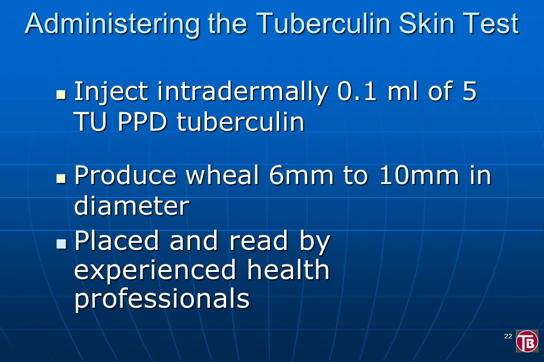 Administering the Tuberculin Skin Test