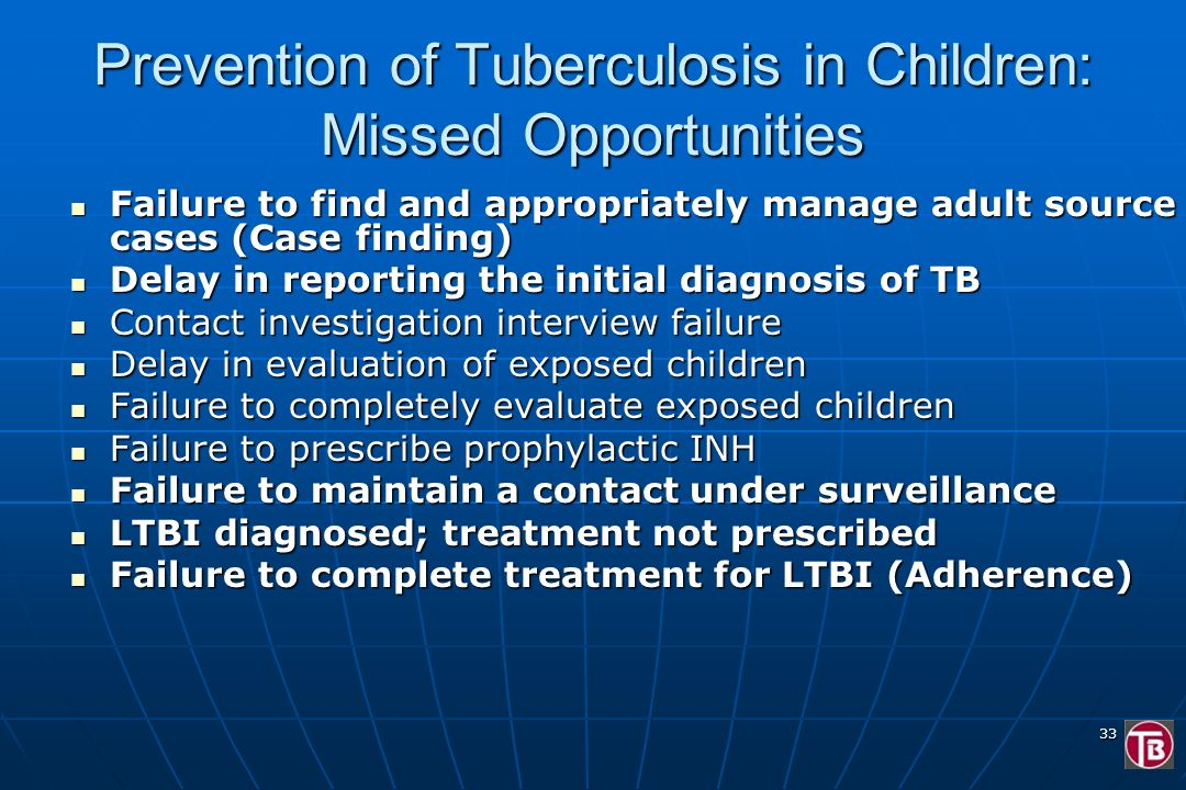 Prevention of Tuberculosis in Children: Missed Opportunities